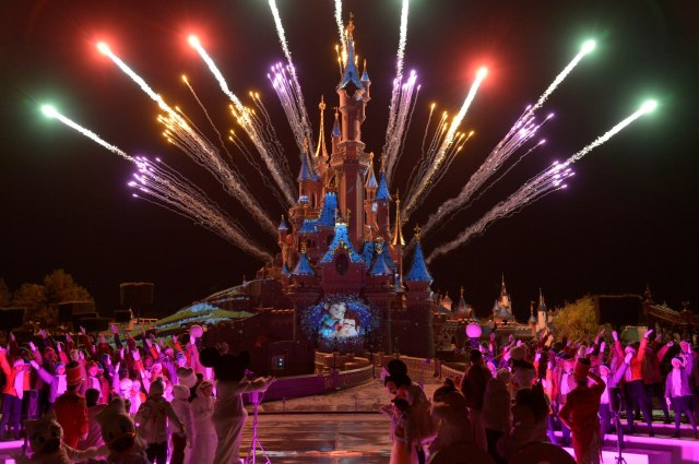 Disneyland Paris and the nightime spectacular