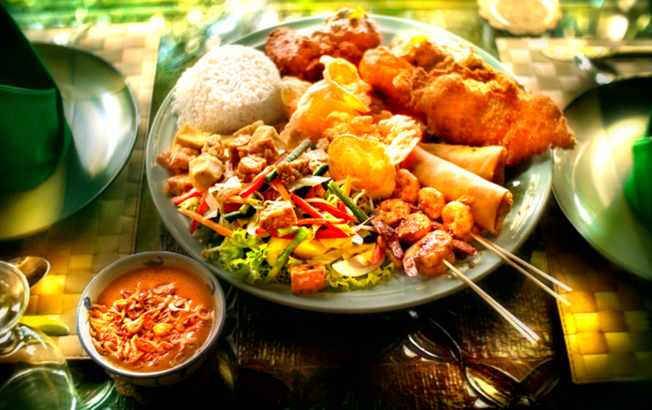 Nasi Campur lunch